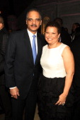 S Attorney General Eric Holder and Debra Lee attend BET Honors 2013 Debra Lee PreDinner at The Library of Congress on January 11 2013 in Washington DC