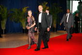 Attorney General Eric Holder arrives at the White House Correspondents' Association dinner on May 1 2010 in Washington DC The annual dinner featured...