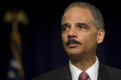 US Attorney General Eric Holder delivers the keynote address at the White House Conference on 'Gang Violence Prevention and Crime Control' at the...