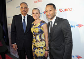 US Attorney General Eric Holder Sharon Malone and John Legend attend 'An Evening With John Legend' hosted by POLITICO to kickoff White House...