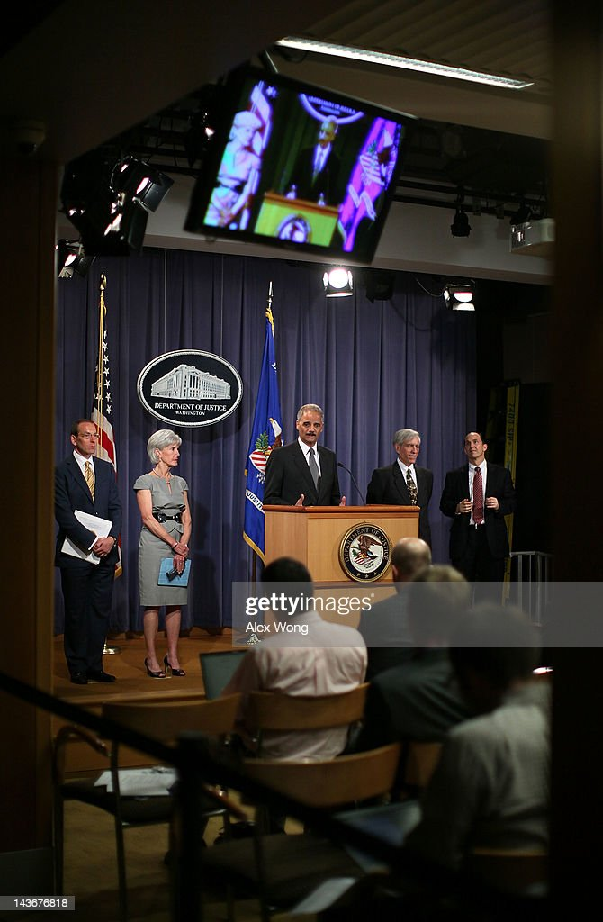 Attorney General Eric Holder And HHS Secretary Sebelius Discuss Medicare Fraud Actions