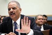 S Attorney General Eric Holder testifies during a hearing before the House Judiciary Committee on oversight of the US Department of Justice May 15...