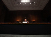 Attorney General Eric Holder testifies during a Senate Judiciary Committee hearing on Capotil Hill on January 29 2014 in Washington DC The committee...