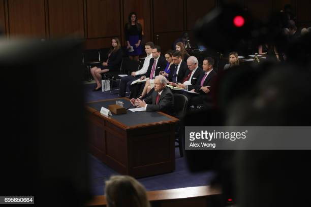 S Attorney General Jeff Sessions appears before the Senate Intelligence Committee on June 13 2017 in Washington DC The nation's chief law enforcement...
