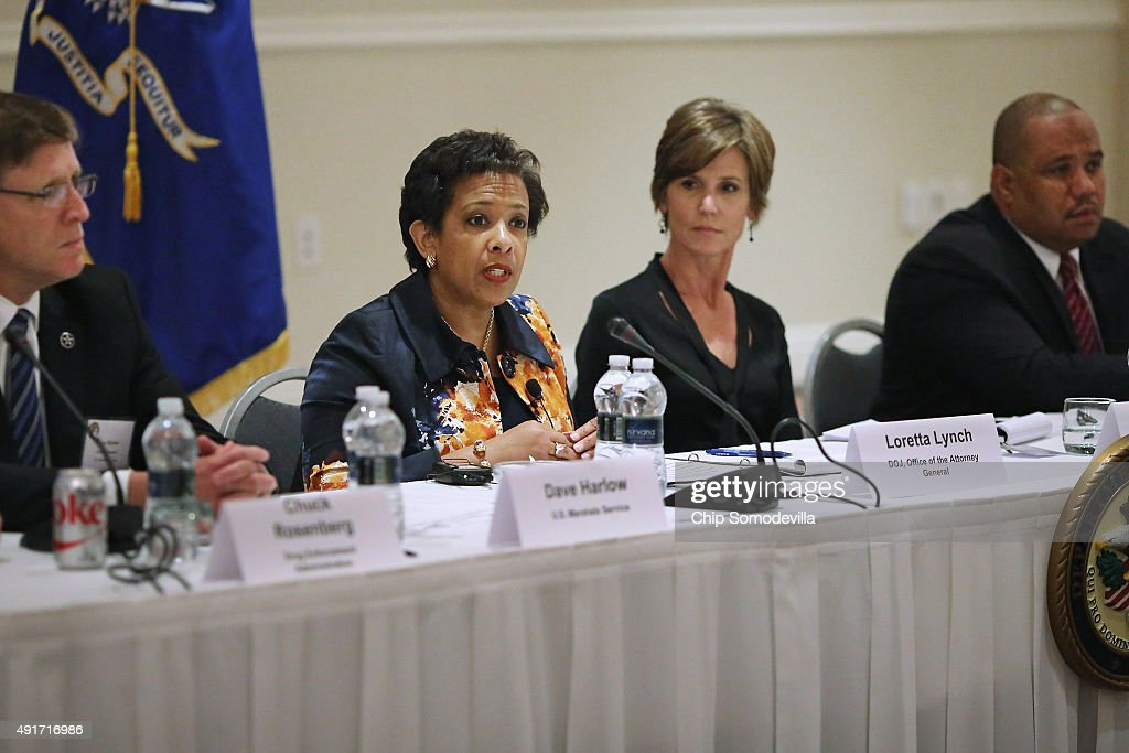 Attorney General Loretta Lynch Holds Summit On Violent Crime At The Justice Dept.