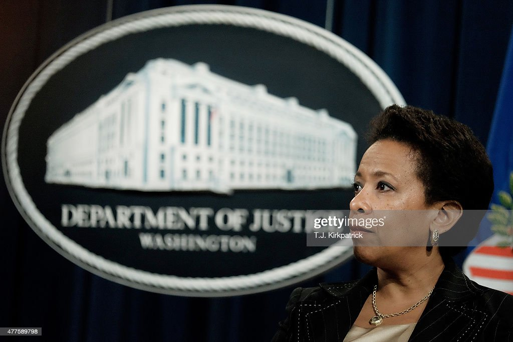 Attorney General Loretta Lynch speaks about a national effort to crack down on Medicare fraud during a press conference at the Department of Justice...