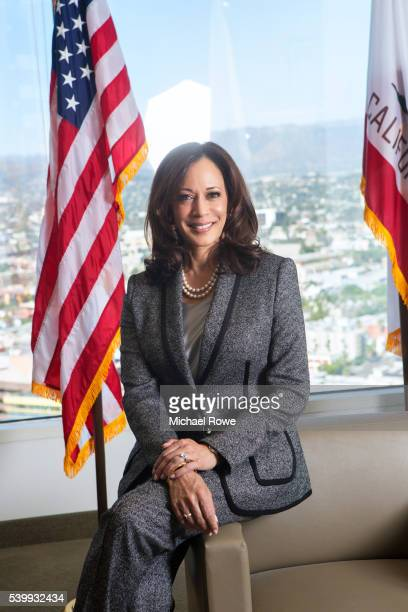 Attorney General of California Kamala Harris is photographed for Essence Magazine on October 20 2015 in Los Angeles California