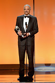 Attorney General of the United States Eric H Holder Jr accepts the Chairman's Award onstage at the 46th Annual NAACP Image Awards on February 6 2015...