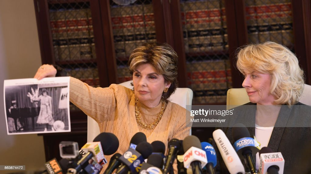Gloria Allred Holds Press Conference With Harvey Weinstein Accuser