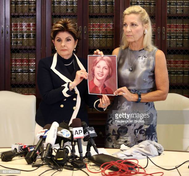 Attorney Gloria Allred and her client Robin speak regarding Roman Polanski during press conference on August 15 2017 in Los Angeles California