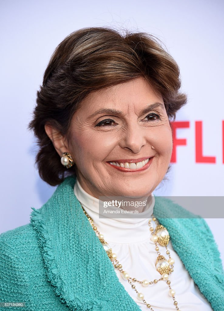Attorney <a gi-track='captionPersonalityLinkClicked' href=/galleries/search?phrase=Gloria+Allred&family=editorial&specificpeople=213999 ng-click='$event.stopPropagation()'>Gloria Allred</a> arrives at the Netflix Original Series 'Grace & Frankie' Season 2 premiere at the Harmony Gold Theater on May 1, 2016 in Los Angeles, California.