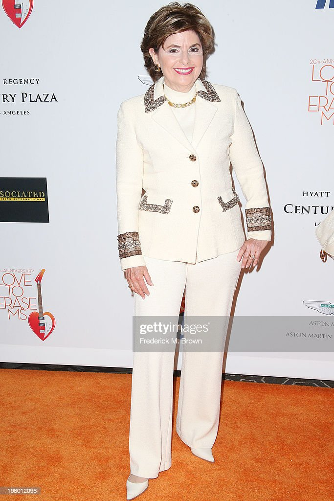 Attorney Gloria Allred attends the 20th Annual Race to Erase MS Gala 'Love to Erase MS' at the Hyatt Regency Century Plaza on May 3, 2013 in Century City, California.
