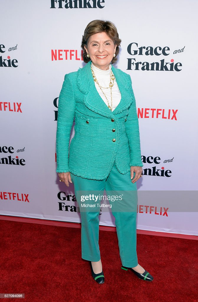 Attorney <a gi-track='captionPersonalityLinkClicked' href=/galleries/search?phrase=Gloria+Allred&family=editorial&specificpeople=213999 ng-click='$event.stopPropagation()'>Gloria Allred</a> attends the premiere of Season 2 of the Netflix Original Series 'Grace & Frankie' at Harmony Gold on May 1, 2016 in Los Angeles, California.