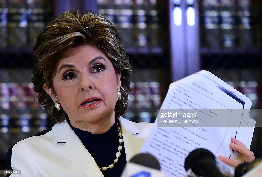 Attorney <a gi-track='captionPersonalityLinkClicked' href=/galleries/search?phrase=Gloria+Allred&family=editorial&specificpeople=213999 ng-click='$event.stopPropagation()'>Gloria Allred</a> displays a copy of excerpts released from Bill Cosby's deposition in the Constand lawsuit on July 13, 2015 in Los Angeles, California. Cosby admitted having supplied powerful sedatives to at least one woman in order to have sex with her, court documents unsealed on July 6 showed. Cosby admitted that in 1976 he had supplied Quaaludes -- a strong depressant widely used in the 1960s and 70s, but which has been discontinued in the United States -- to a woman who later accused him of sexual assault. Allred, who represents numerous Cosby accusers, said she was 'very hopeful' about using the admission in the case of Judy Huth, who filed a civil suit accusing the fallen star of sexual assault when she was 15 years old. AFP PHOTO / FREDERIC J. BROWN
