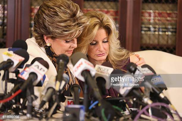 """Attorney Gloria Allred holds a press conference with Summer Zervos a former candidate on """"The Apprentice"""" season five who is accusing Donald Trump of..."""