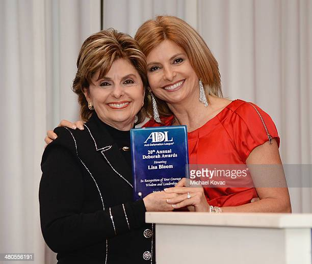 Attorney Gloria Allred presents her daughter TV personality/author Lisa Bloom with a Deborah Award at the AntiDefamation League 20th Annual Deborah...