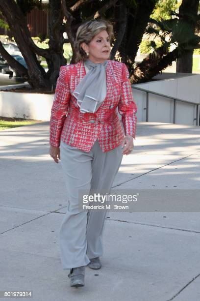 Attorney Gloria Allred representing Judy Huth arrives for a trial setting conference of a civil suit against Bill Cosby at the Santa Monica...