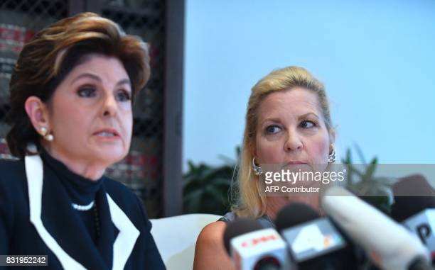 Attorney Gloria Allred speaks as Robin another accuser of Roman Polanski who alleges she was 16 years old when sexually victimized by Mr Polanski...