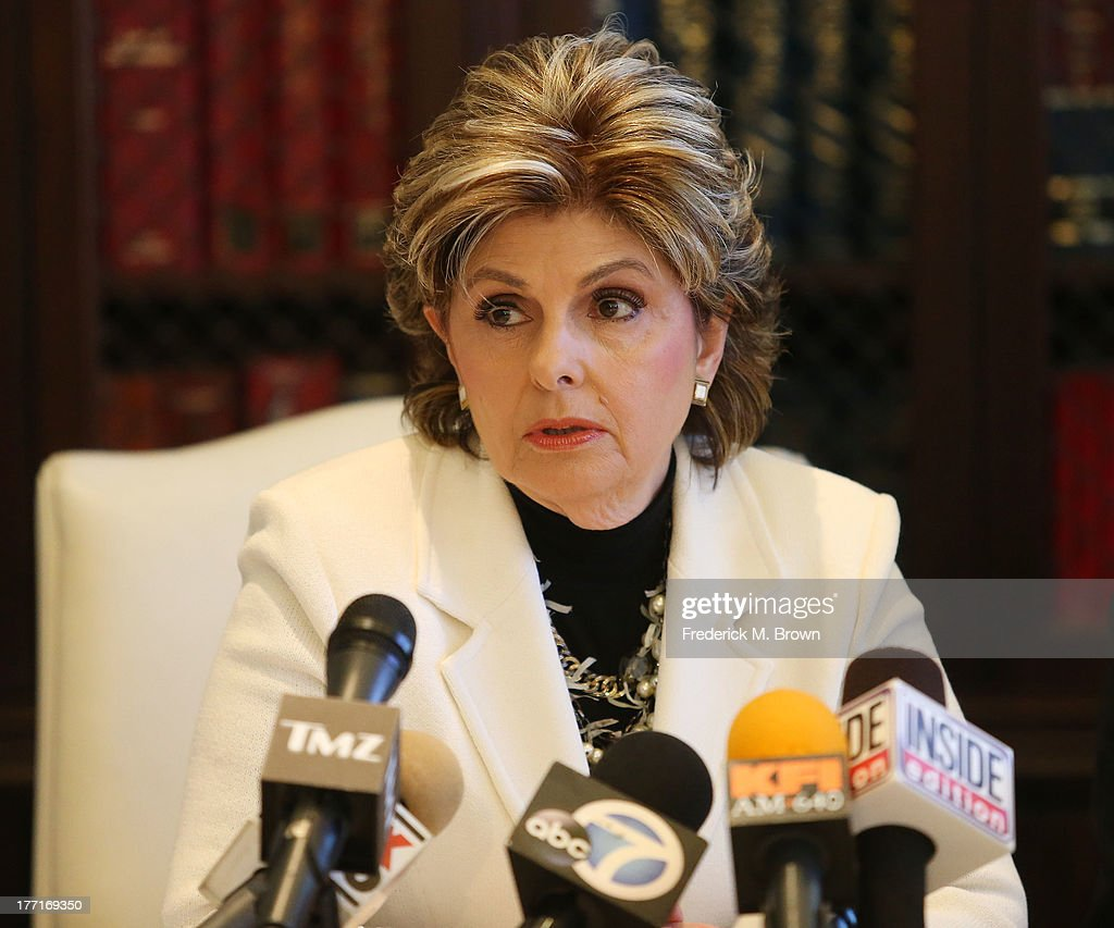 Attorney Gloria Allred speaks during a news conference with Daniel Ramos announcing a lawsuit against Kanye West after an attack at LAX Airport on August 21, 2013 in Los Angeles, California.