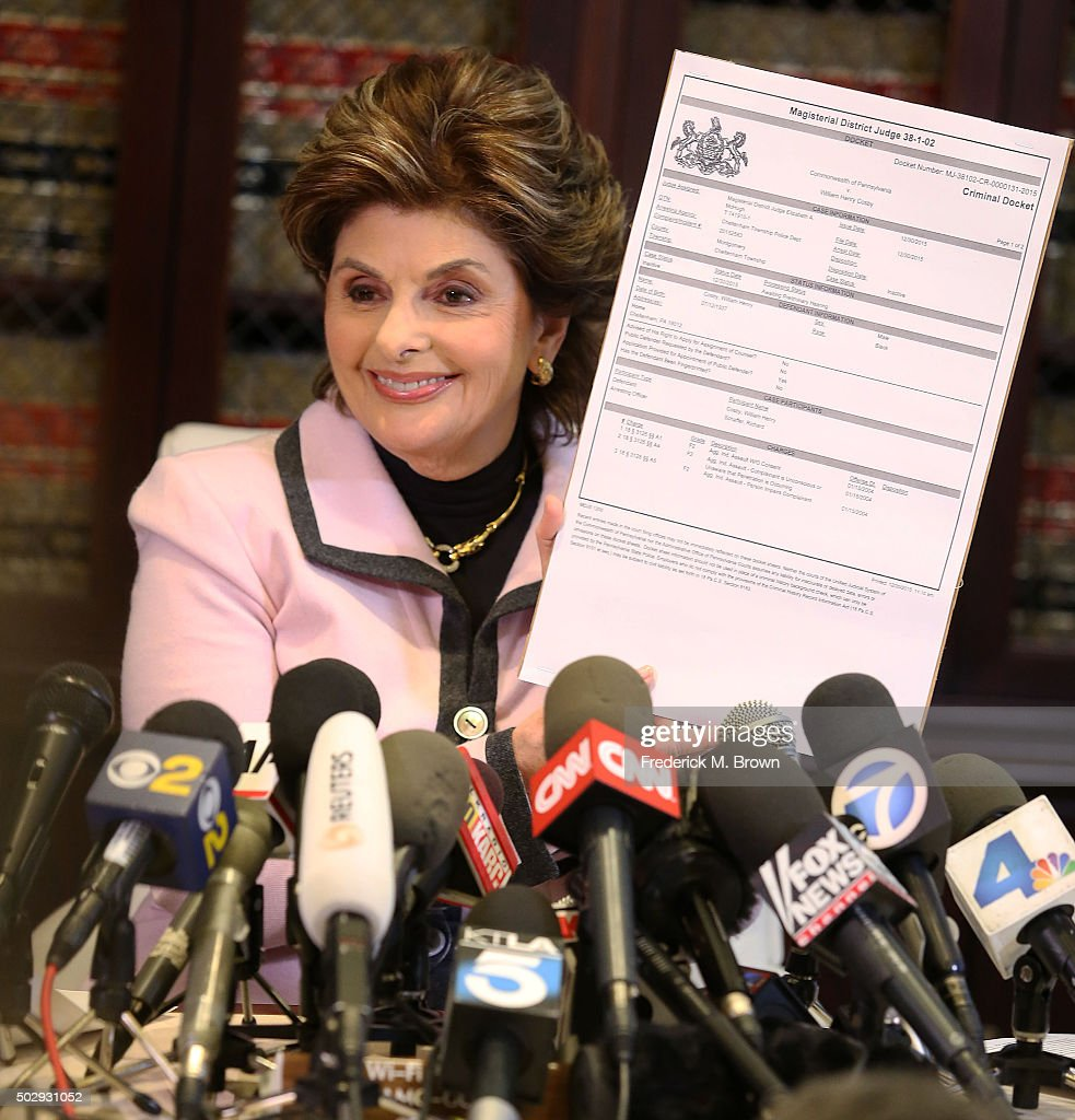 Attorney Gloria Allred speaks during a press conference in response to the felony sexual assault charges levied against comedian Bill Cosby stemming from an alleged January 2004 assault of Temple University employee Andrea Constand at Cosby's Pennsylvania home December 30, 2015 in Los Angeles, California. Allred represents 29 alleged sexual assault victims of Bill Cosby.