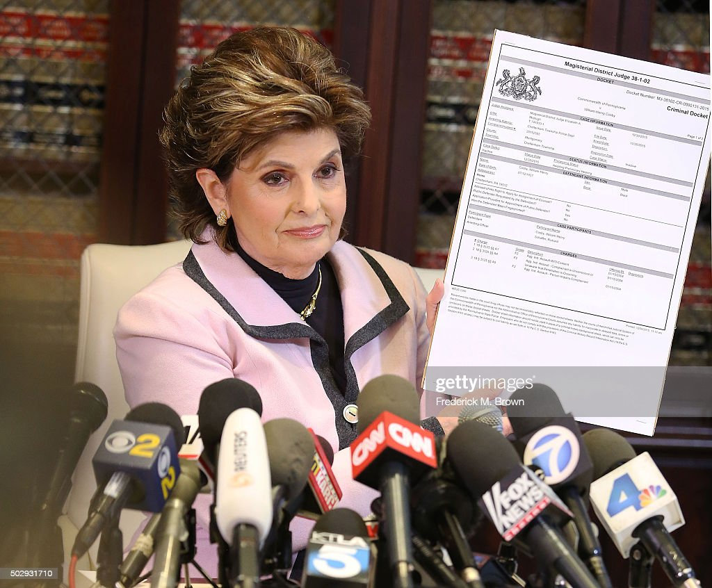 Attorney <a gi-track='captionPersonalityLinkClicked' href=/galleries/search?phrase=Gloria+Allred&family=editorial&specificpeople=213999 ng-click='$event.stopPropagation()'>Gloria Allred</a> speaks during a press conference in response to the felony sexual assault charges levied against comedian Bill Cosby stemming from an alleged January 2004 assault of Temple University employee Andrea Constand at Cosby's Pennsylvania home December 30, 2015 in Los Angeles, California. Allred represents 29 alleged sexual assault victims of Bill Cosby.