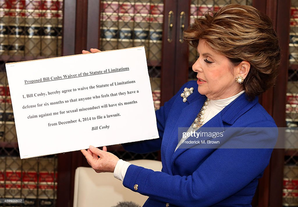 Attorney <a gi-track='captionPersonalityLinkClicked' href=/galleries/search?phrase=Gloria+Allred&family=editorial&specificpeople=213999 ng-click='$event.stopPropagation()'>Gloria Allred</a> speaks during a press conference with alleged victims of Bill Cosby on December 3, 2014 in Los Angeles, California. Cosby has been accused of sexual assault by approximately 20 women.
