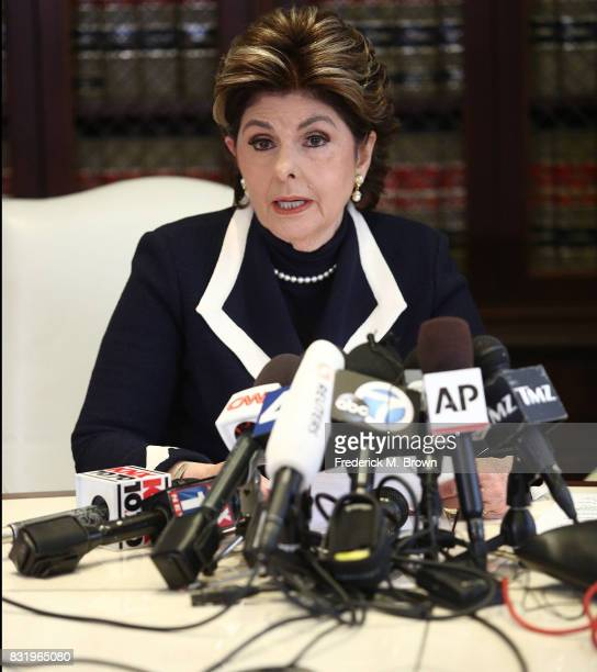 Attorney Gloria Allred speaks regarding Roman Polanski during press conference on August 15 2017 in Los Angeles California