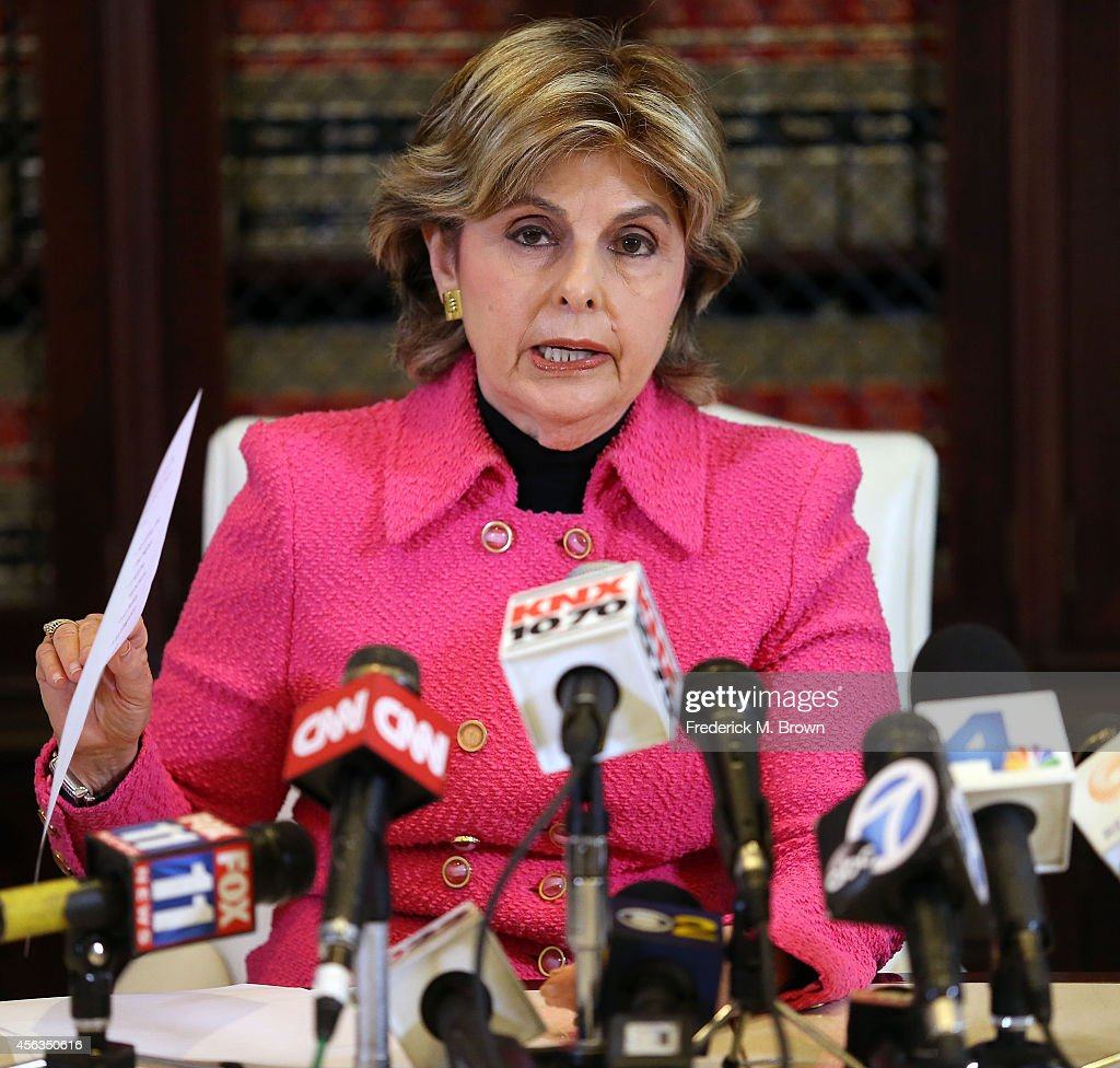 Attorney Gloria Allred speaks to the press about an alleged rape case during attorney Gloria Allred vs. NFL Commissioner Roger Goodell Press Conference on September 29, 2014 in Los Angeles, California.