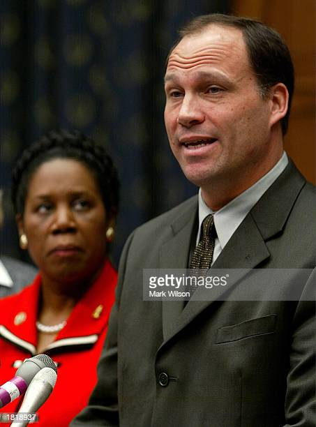 Attorney Kurt Dixon accompanied by Congresswomen Sheila JacksonLee appeals to Congress not to pass legislation that would limit the amount of damages...