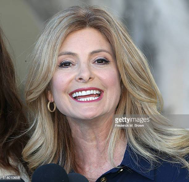 Attorney Lisa Bloom lawyer for Janice Dickinson speaks during a press conference at a motions hearing in Janice Dickinson's lawsuit against comedian...