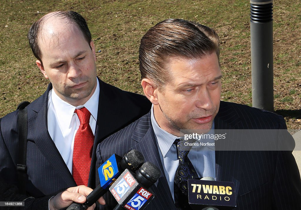 Attorney Russell Yankwitt (L) and client <a gi-track='captionPersonalityLinkClicked' href=/galleries/search?phrase=Stephen+Baldwin&family=editorial&specificpeople=213776 ng-click='$event.stopPropagation()'>Stephen Baldwin</a> (R) address the media after Baldwin pleaded guilty to a charge of repeated failure to file income taxes at Rockland County Courthouse on March 29, 2013 in New City, New York. Baldwin, a contestant on 'All-Star Celebrity Apprentice', was accused of failing to file income tax returns from 2008-2010 and faced up to four years in prison.