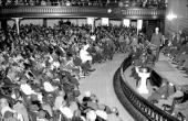 Attorney Samuel Leibowitz addresses a crowd of citizens of Harlem in the Salem M E Church 129th St and Seventh Ave Three thousand people packed the...