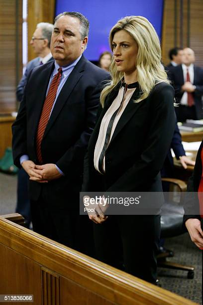 Attorney Scott Carr and sportscaster and television host Erin Andrews appear in court on Friday March 4 in Nashville Tenn Andrews has filed a $75...