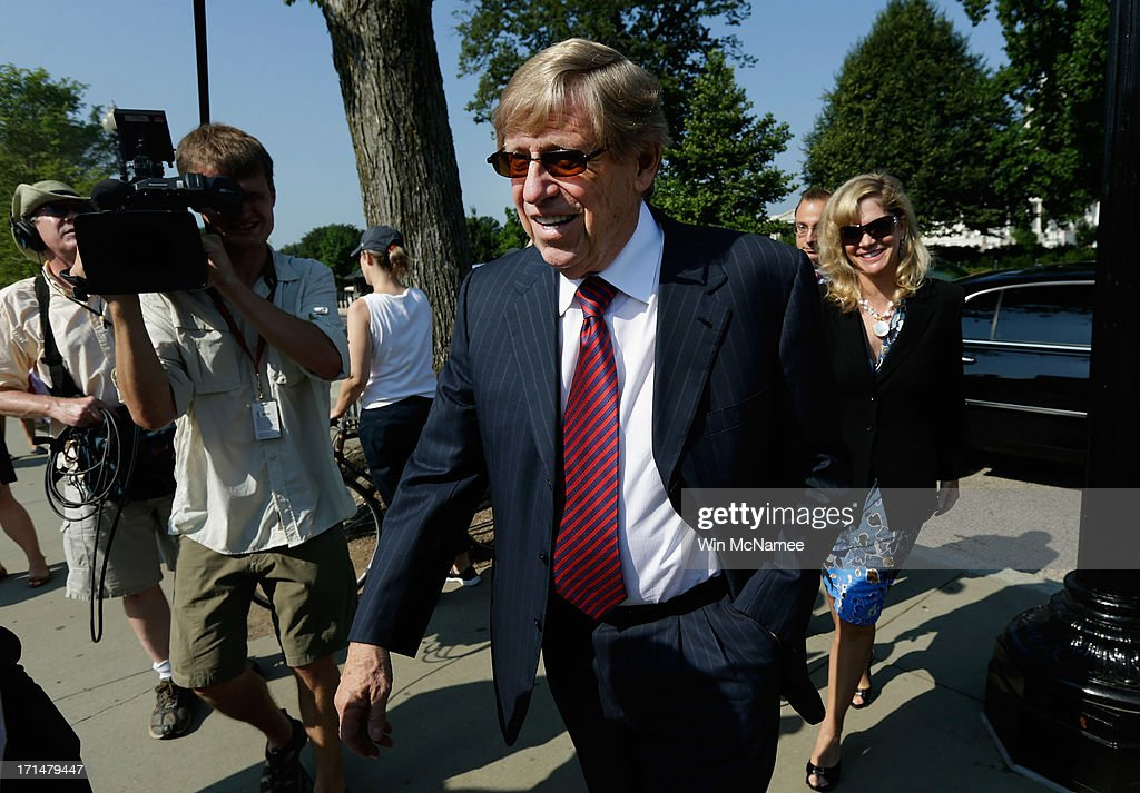 Attorney Ted Olson arrives outside the U.S. Supreme Court building on June 25, 2013 in Washington, DC. The high court convened again today to rule on some high profile decisions including two on gay marriage and one on voting rights.
