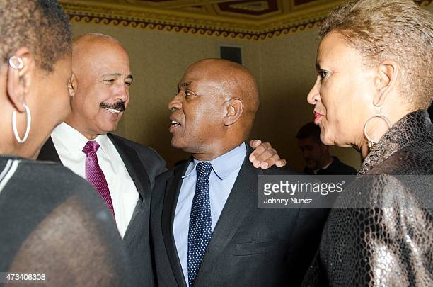 Attorney Ted Wells Harvard Law Professor Charles Ogletree and former Secretary of State of New Jersey Nina Wells attend the 2015 Brotherhood/Sister...