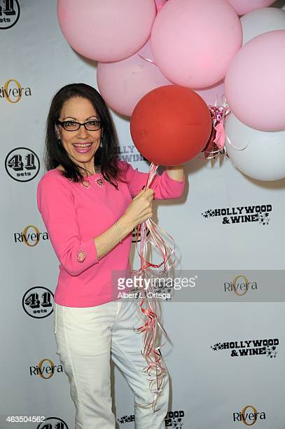 Attorney Vicki Roberts at the Hollywood Wine For Your Valentine Photo Opportunity held at 41 Sets at Hollywood Center Studios on February 14 2015 in...