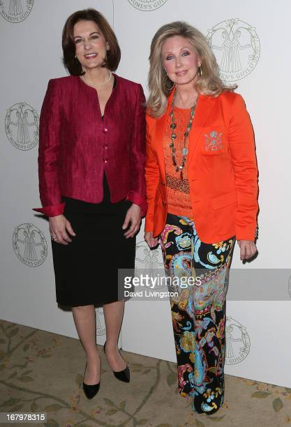 Attorney Victoria Reggie Kennedy and actress Morgan Fairchild attend the Women's Guild CedarsSinai Spring Luncheon honoring Kennedy at the Beverly...
