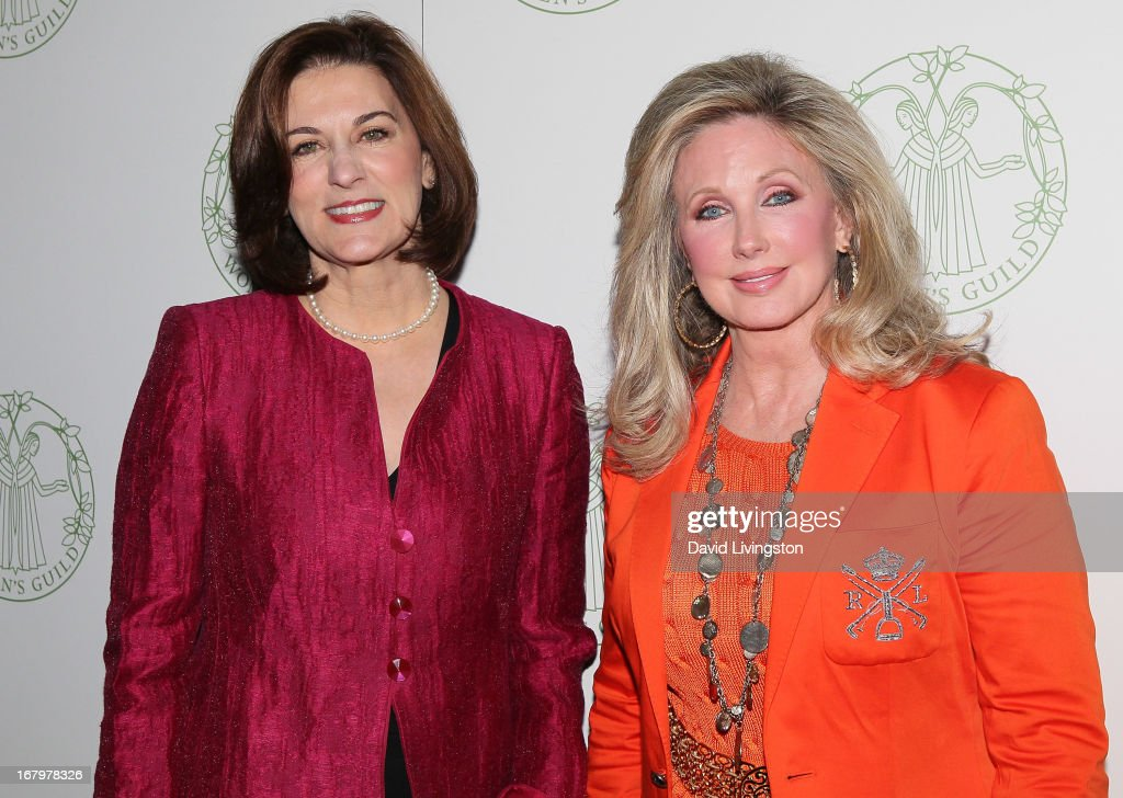 Attorney Victoria Reggie Kennedy (L) and actress Morgan Fairchild attend the Women's Guild Cedars-Sinai Spring Luncheon honoring Kennedy at the Beverly Hills Hotel on May 3, 2013 in Beverly Hills, California.