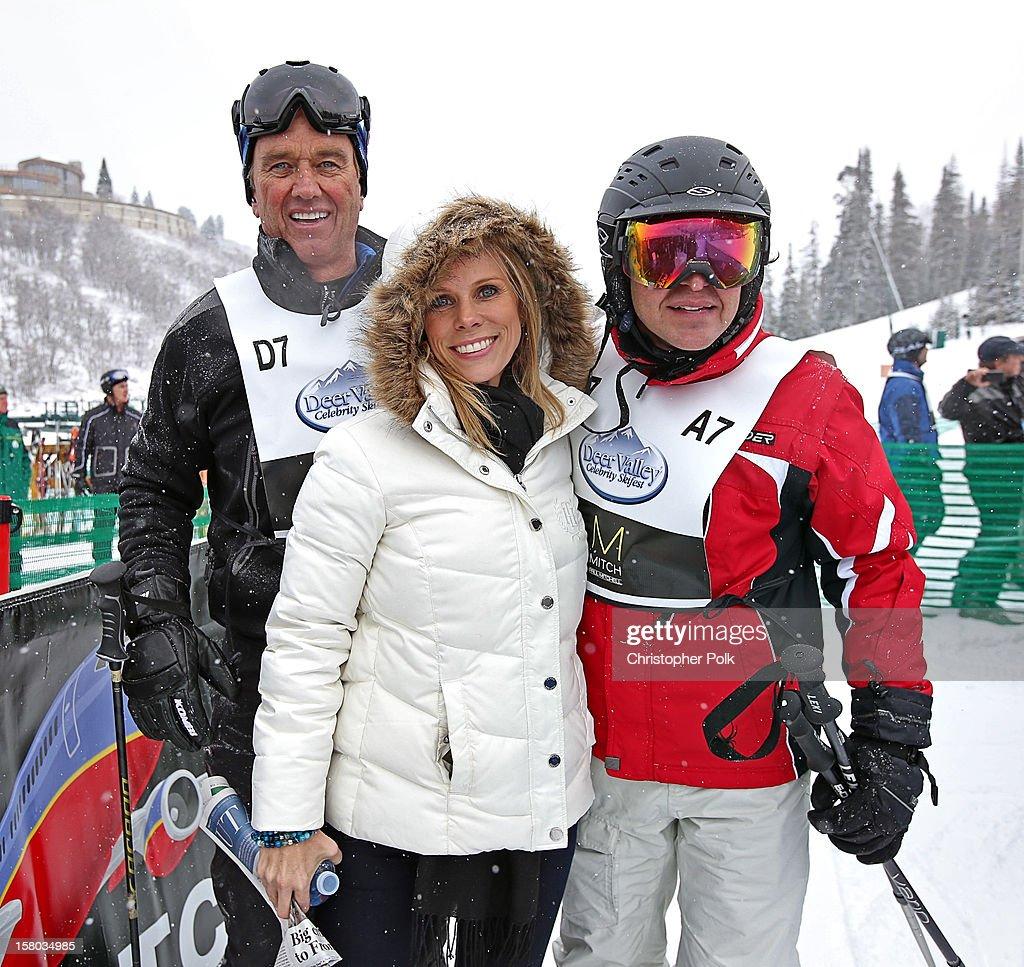 Attorney/Author Robert F. Kennedy Jr., actress Cheryl Hines and VP, Alternative Programming for NBC Enrique Guillen attend the Deer Valley Celebrity Skifest at Deer Valley Resort on December 9, 2012 in Park City, Utah.
