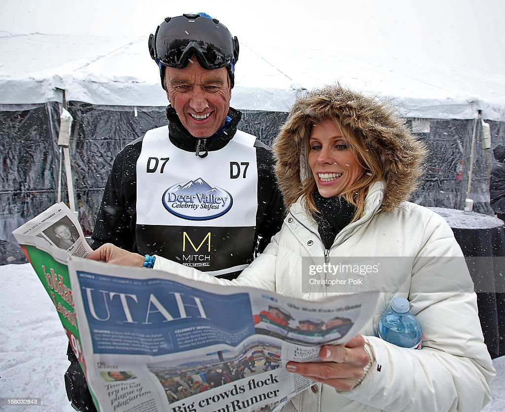 Attorney/Author Robert F. Kennedy Jr. and actress Cheryl Hines attend the Deer Valley Celebrity Skifest at Deer Valley Resort on December 9, 2012 in Park City, Utah.