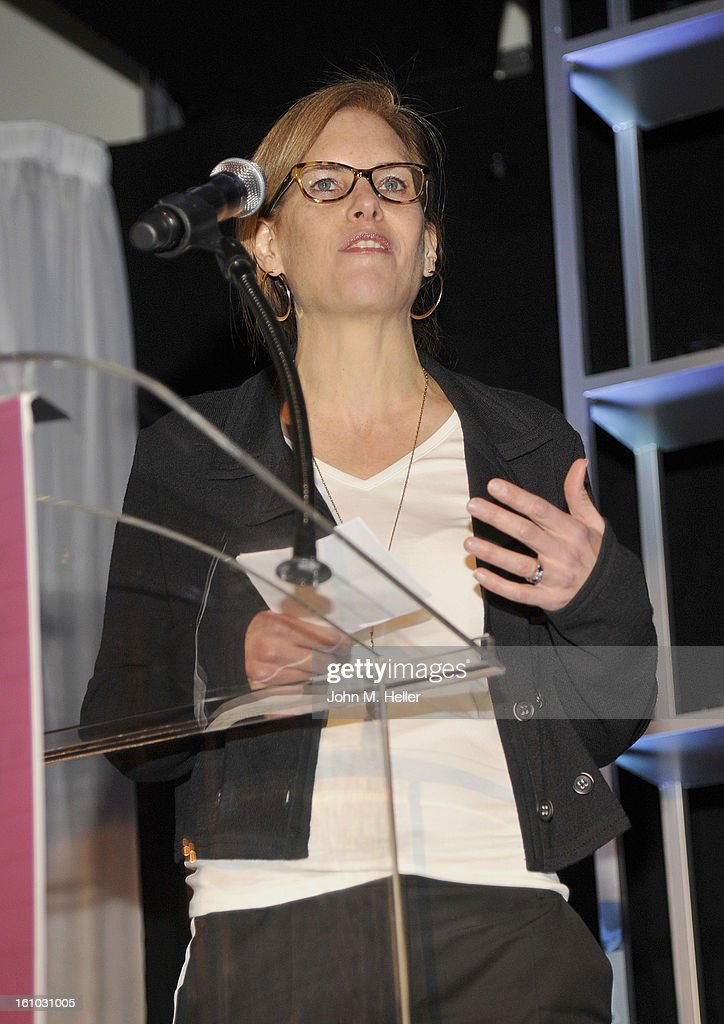 Attorney/Interactive Content Consultant Andie Brokaw Simon at the Grammy Foundation's 15th Annual Entertainment Law Initiative Luncheon at the Beverly Hills Hotel on February 8, 2013 in Beverly Hills, California.