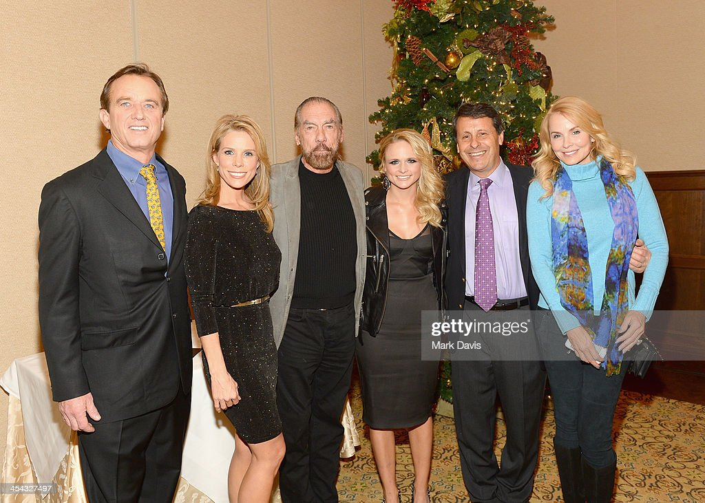 Attorney/radio personality Robert F. Kennedy Jr., actress Cheryl Hines, Paul Mitchell CEO John Paul DeJoria, recording artist Miranda Lambert, President of Juma Entertainment Bob Horowitz and Eloise DeJoria attend the Waterkeeper Alliance Benefit during Day 2 of the Deer Valley Celebrity Skifest held at Montage Deer Valley on December 7, 2013 in Park City, Utah.