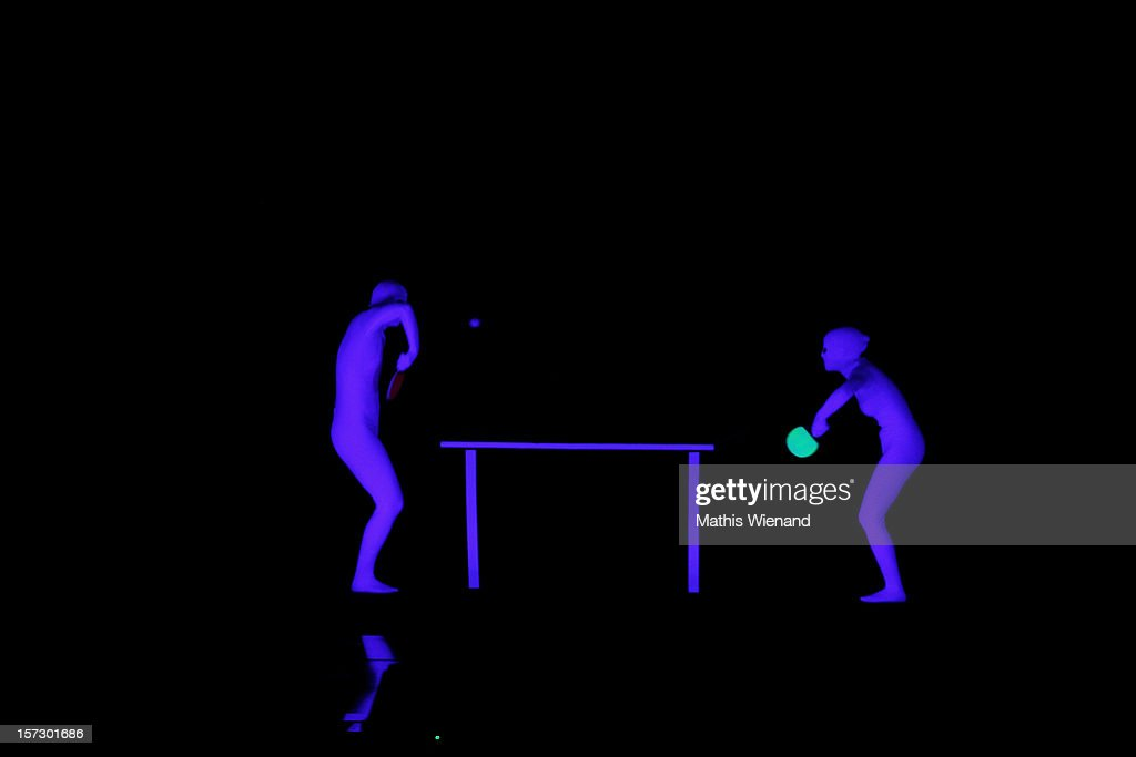 Attraction Black Light attend the First Live Show of 'Das Supertalent' on December 1, 2012 in Cologne, Germany.