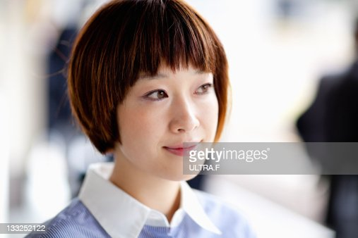 Attractive asian businesswoman : Stock Photo