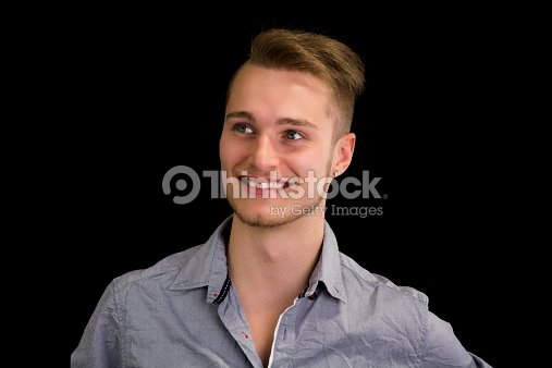 Attractive blond blue eyed young man smiling stock photo thinkstock - Blonde yeux bleu ...