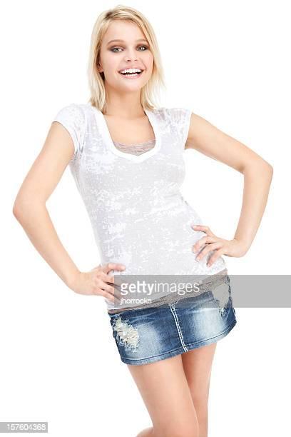 Atractiva Mujer joven Casual
