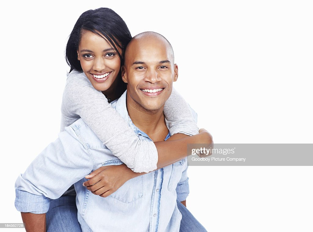 Attractive couple having fun together : Stock Photo