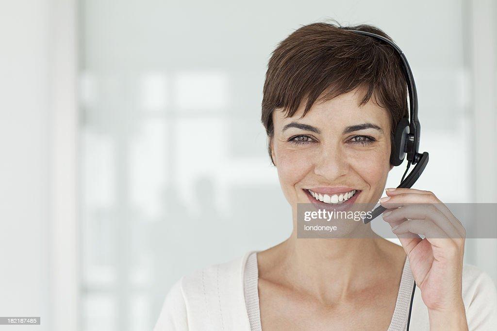 Attractive Customer Service Representive