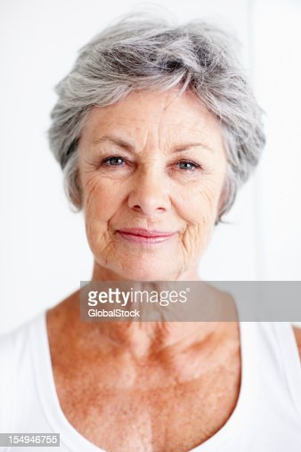 Attractive elderly woman