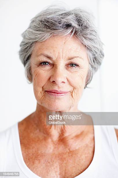 Attractive elderly woman
